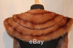 Vintage1940's Real Fur Minks Stole, Wrap, Velvet Lined, War Weekend, WW11 Reenactor
