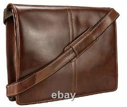 Visconti VT7 Vintage Tan Genuine Leather Messenger Bag Handbag Cross-body