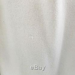 Vtg 100% Cashmere Long Belted Lined Trench Dress Coat Ivory Duster Small Medium