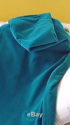 Vtg 1960's Moroccan cape green lined red withhood