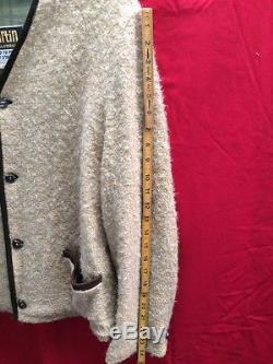 Vtg 50's Martin Wool Cardigan Sweatersz 40 MediumFully Lined