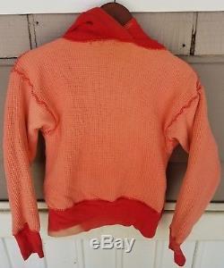 Vtg 50s Sweatshirt Sun Fades Lined After Hood Hoodie T Shirt 40s waffle reverse