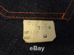 Vtg 50s TEST Buster Cowboy Indigo Denim Lined Pant Jeans Kids 6 23x20 SANFORIZED