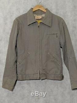 Vtg 60s Amarillo Dragway Hotrod Mechanics Lined Customized Jacket Hercules Sears