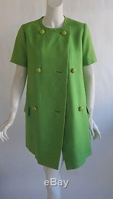 Vtg 60s CHRISTIAN DIOR couture Printemps 1966 marc bohan trapeze a line dress