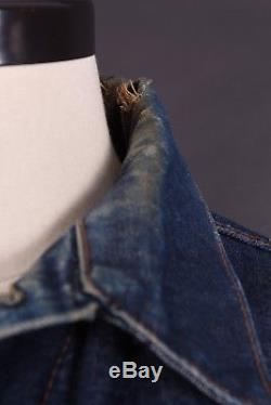 Vtg 60s Levis Big E 70505 Blanket Lined Denim Jean Jacket USA Mens 44