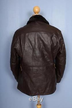 Vtg 60s SCHOTT PERFECTO Steerhide Leather Sheepskin Lined Motorcycle Jacket