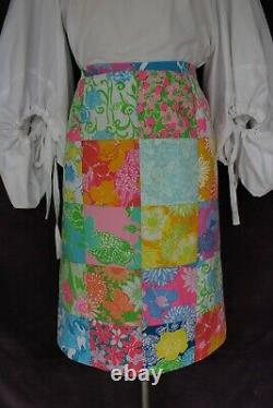 Vtg 60s The Lilly Pulitzer dress skirt patchwork resort Hawaiian M