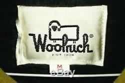 Vtg 60s WOOLRICH Wool Car Club Coat Jacket MEDIUM Olive Green Rockabilly Lined