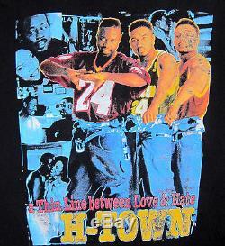 Vtg 90s Thin Line Between Love & Hate 2 Sided Bootleg Rap T Shirt Martin Tupac