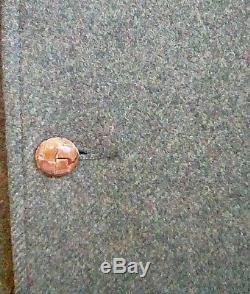 Vtg CC Filson Heathered Brown Wool Sports Jacket 38R Satin Lined Leather Buttons