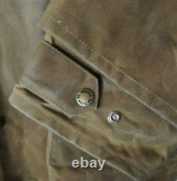 Vtg Filson Tin Cloth Packer Coat XXL 61N with Zip in Wool Vest Liner Brown 46 USA