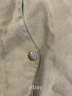 Vtg Filson Tin Cloth Wool Lined Creek Jacket Size M Cruiser