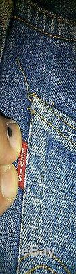 Vtg Late 60s ORIGINAL Levi's Big E red line 501 DENIM W28 L28 Hige #16 Button