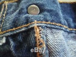 Vtg Levis 501 Big E Pants Red Line Single Stitch Sz 36x32