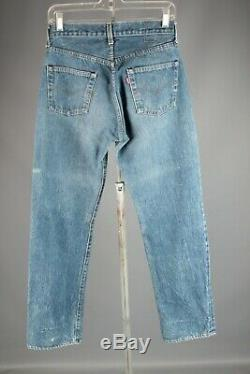 Vtg Men's 1970s 1980s Levis 501 Red Line Selvage Jeans 28x32 70s 80s #6871