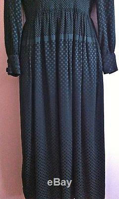 Vtg NORELL-TASSELL for MARSHALL FIELD & CO 28 Shop Green Lined Dress S ILGWU