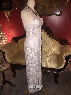 Vtg NiteLine Nahdree Sequin Beaded Dress Long Formal Pageant Prom Evening Gown 2