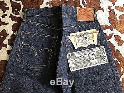 Vtg. Original 60s LEVI's 501E A Type S/S Big E Red Line W 27x L 29 Deadstock