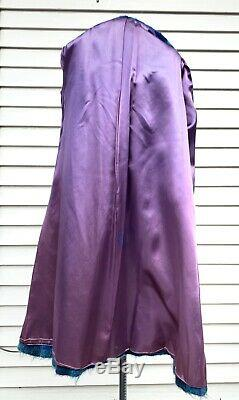 Vtg Paul Levy Designs Alpaca Mohair Wool Dress Coat Small Plaid Lined Trench