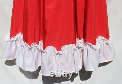 Vtg Red & White Custom Made Country Line Dancing Western Dance Fringe Dress