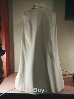 Vtg S Ivory Women's Full Length Nurse Lined Wool Cape Cloak Military Navy USA