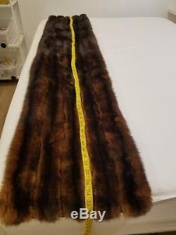 Vtg Sable Brown Genuine Fur Stole Lined Cape Wrap Shawl Bridal Wedding