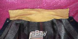 Vtg Sears Work Denim Jacket Barn Chore Coat Blanket Lined Union USA Small 34-36