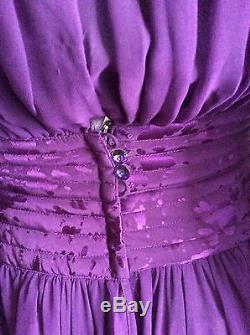 WAYNE CLARK Aline Marelle Vintage Eggplant/Purple Polyester/Silk Dress Size 4
