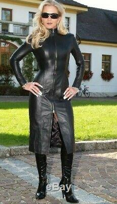 Women, Genuine Lamb Skin, Celebrity Vintage sexy, Leather Dress, Made To order