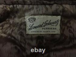 Women's M GORGEOUS Vintage Raccoon Fur Lambskin Belted Half Length Coat Vintage