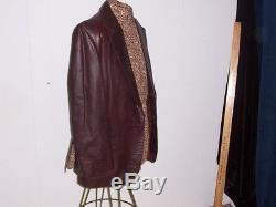 YSL YVES St Laurent Leather Coat Vtg Jacket Blazer 42 Reg Lined Neiman Marcus