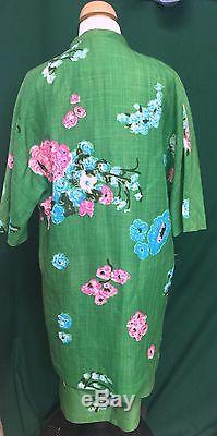 Young Elegante Australia 1960's Vintage 2-Piece Lined Dress & Coat Size Small