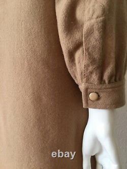Yves Saint Laurent 70s Wool Shirt Dress A-line Vintage YSL dress